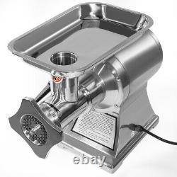 1100W Electric Meat Grinder Stainless Steel Heavy Duty #22 Sausage Maker
