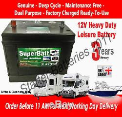 12V 120AH VDC120 Heavy Duty Deep Cycle Leisure Marine Battery Dual Purpose