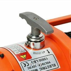 12V 13500lb Electric Recovery Winch Heavy Duty Car Nylon Rope 2 Wireless Control