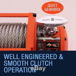 12v / 24v 13500lb Electric 4x4 Recovery RHINO WINCH Wireless Heavy Duty Off Road