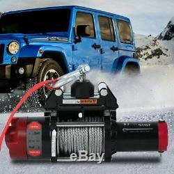 12v 4500lb Electric RHINO WINCH Steel Cable Wireless Heavy Duty Off Road 4x4