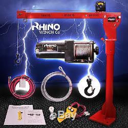 12v Electric Jib Crane 3000lb Heavy Duty Rhino Winch, Vehicle Mounted Crane