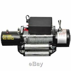 13000LBS Heavy Duty Electric Recovery Winch 12V Remote Control RopeTrailer Truck