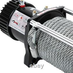 13000lbs 12v Electric Recovery Truck 4x4 Winch Heavy Duty Steel Cable