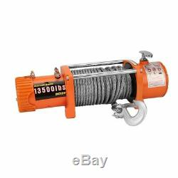 13500LBS 4X4 ELECTRIC RECOVERY RHINO WINCH (Not 13000lb) 2 Remotes Heavy Duty