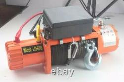 13500lbs 12v Electric Recovery Truck 4x4 Winch Heavy Duty Steel Cable 6 Ton