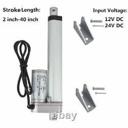 2-40 DC Electric Linear Actuator Stroke 50-1000mm 24/12V Heavy Duty 200N-1500N