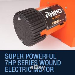 24v Electric 4x4 Recovery Rhino Winch 17500lb Steel Cable Heavy Duty Off Road