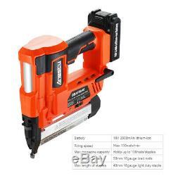 2in1 Nail Gun & Staple Gun Cordless Electric Heavy Duty Stapler Nailer 18V 2.0Ah