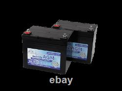 2x 12V 34Ah Leoch Deep Cycle Mobility Scooter Batteries Replaces 30ah 32ah 33ah