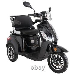 3 Wheeled Electric Mobility Scooter Black ZT500 500W LED Display By GREEN POWER
