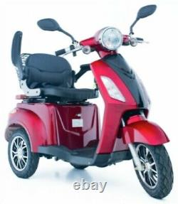 3 Wheeled RED GP500 800W Electric Mobility Scooter LED Display Road Legal