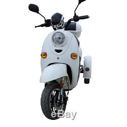 3 Wheeled Retro ELECTRIC MOBILITY SCOOTER Adult 60V 100AH 650W up to 15mph White