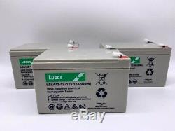 3 x 6-DZM-12 (equiv)12V 12ah Re-chargeable HEAVY DUTY ELECTRIC BIKE BATTERIES