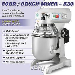 30L Commercial Dough Mixer Cake Food Heavy Duty Planetary Mixer Three Speeds