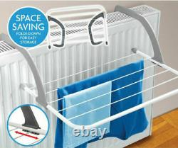 3M RADIATOR AIRER Towel Rack Clothes Dryer Laundry Bar Washing Adjustable Strong