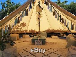 4 Season 4M Cotton Canvas Bell Tent Glamping Camping Party Yurt withElectric Entry
