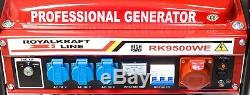 4 Stroke 9500 WE Heavy Duty Portable Petrol Generator with ELECTRIC START KEY