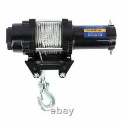4000LBS Heavy Duty Electric Recovery Winch 12V Remote Control Rope Trailer Truck