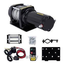 4500LBS Electric Winch Recovery Heavy Duty 12V Remote Control Rope Trailer Truck