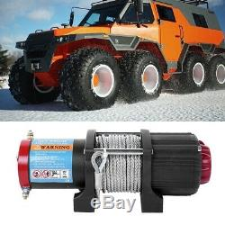 4500lb 12v Electric Recovery Winch 15m Wire Rope Heavy Duty Boat 4x4 Pulley