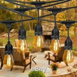 49 Ft Festoon Light Outdoor Lighting Garden String Main Heavy Duty