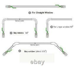 6M (236) Electric Curtain Tracks, 2N Heavy-duty Motor & Free Wireless Timer