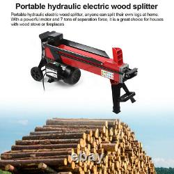 7 Ton Electric Heavy Duty Hydraulic Log Splitter Wood Timber Cutter Equipment Uk