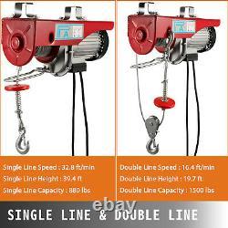 800KG Electric Hoist Winch Lifting Engine Crane Ceiling Double Line Heavy Duty