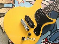 ANTORIA Guitar New Yorker Les Paul Junior Yellow With Heavy Duty Carry Bag