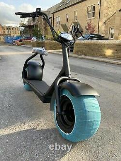 All Mat Black Heavy Duty Chopper Style Electric Scooters, 2000w Electric Motor