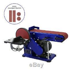 Bench Belt Disc Sander Heavy Duty Adjustable Electric Mitre Sanding / 375W 230V