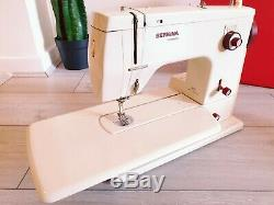Bernina Minimatic 807 Heavy Duty Electric Sewing Machine + Foot Pedal Case Works