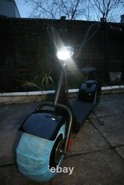 Citycoco Electric Scooter Matt Black Heavy Duty Chopper Style Bike