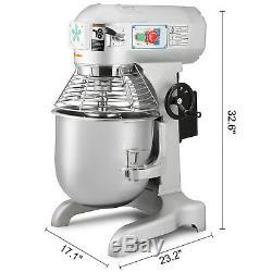 Commercial Dough Mixer 30L Heavy Duty Planetary Mixer 1100W Three Speed