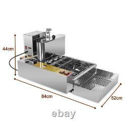 Commercial Heavy Duty Electric Automatic Doughnut Machine Mini Donut Fryer 2800W