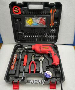 Corded Hammer Drill Electric Screwdriver Power Industrial Tool 104pcs Accessory