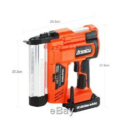 Cordless Nail Gun & Staple Gun 2in1 Electric Heavy Duty Stapler Nailer 18V 2.0Ah