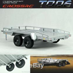 Cross RC CZR90100023 T-006 Heavy Duty Flatbed Trailer Kit withRamps & Lighting Kit
