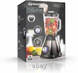 Daewoo Callisto 600W 1.5L Heavy Duty Jug Glass Blender 4 Speed + coffee Grinder