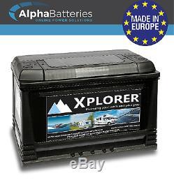 Deal Pair Of 12v Sealed Xplorer 115 Ah Heavy Duty Leisure Battery Caravan Boat