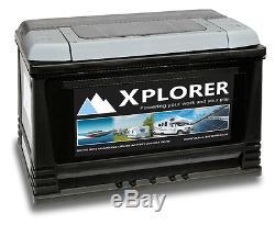 Deal Pair Of 12v Sealed Xplorer 130 Ah Heavy Duty Boat Leisure Batteries