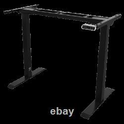 Dellonda Black Electric Adjustable Desk Frame, Digital Controls 100kg Heavy Duty
