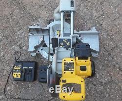Dewalt Dw017 24v Cordless Heavy Duty Sliding Mitre Saw + 2 Batteries + Charger