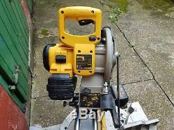 Dewalt Dw017 24v Cordless Heavy Duty Sliding Mitre Saw With 2 Batteries