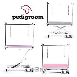 Dog Grooming Table Electric with H Frame Bar by Pedigroom Professional Quality