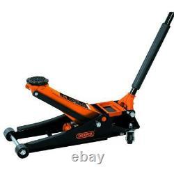 Draper Orange 2.25 Ton Low Entry 73mm Car Van Lowered Garage Trolley Jack, 70942