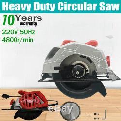 Electric Circular Saw 1650W Heavy Duty Wood Steel Cutting Tools with 185mm Blade