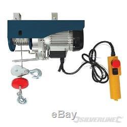 Electric Hoist Winch Lift 500kg Engine Workshop Garage Gantry Silverline 442463