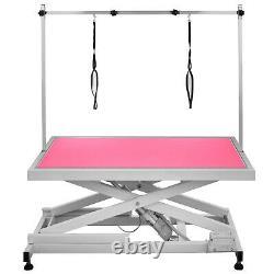 Electric Lifting Pet Dog Grooming Table Metal Bath With X Frame Bar